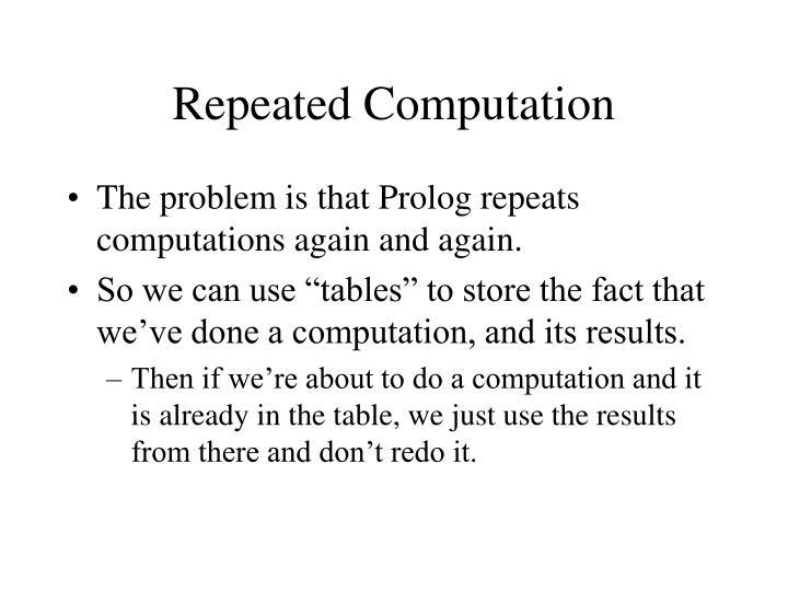 Repeated Computation