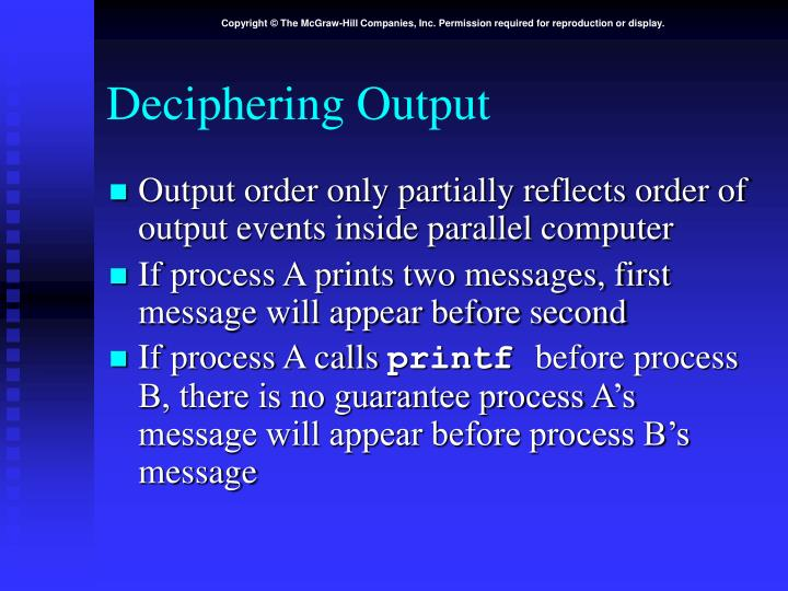 Deciphering Output