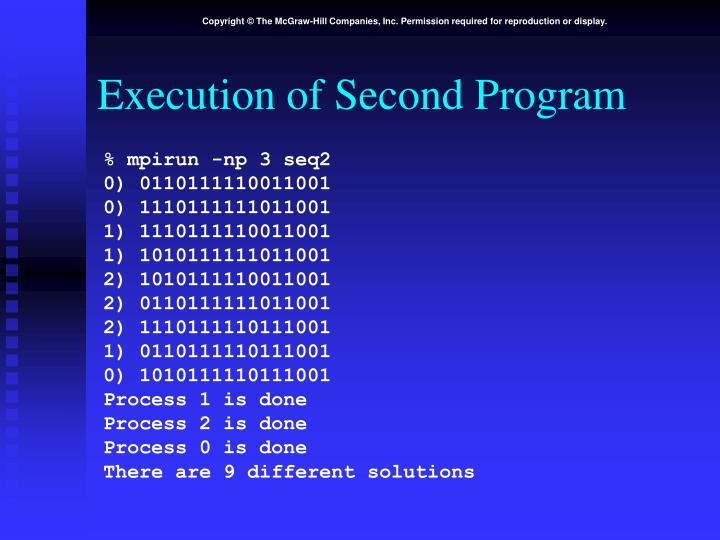 Execution of Second Program