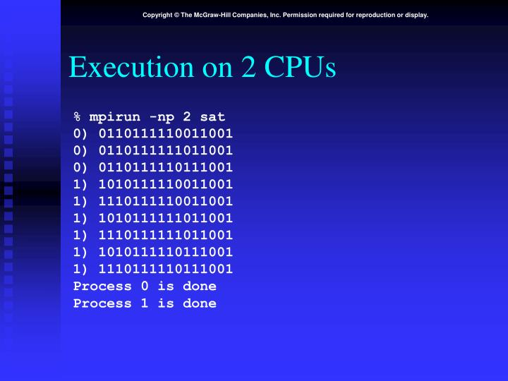 Execution on 2 CPUs