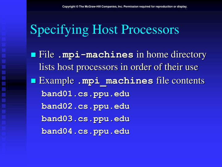 Specifying Host Processors