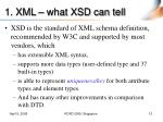 1 xml what xsd can tell