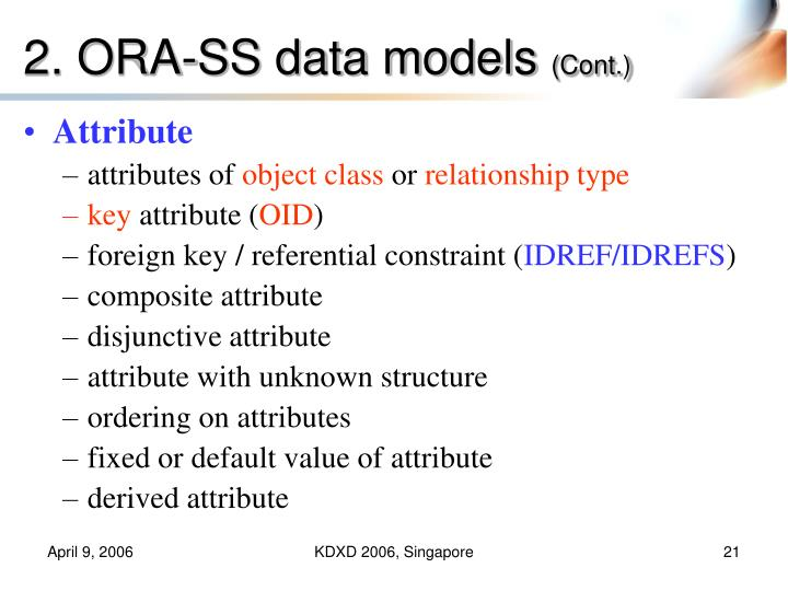 2. ORA-SS data models