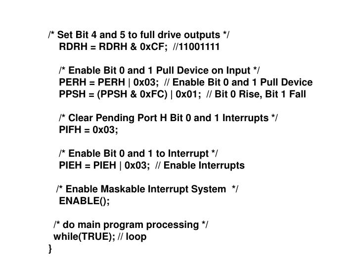 /* Set Bit 4 and 5 to full drive outputs */
