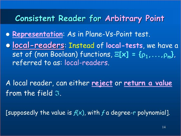 Consistent Reader for