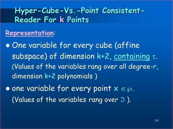 Hyper-Cube-Vs.-Point Consistent-Reader For