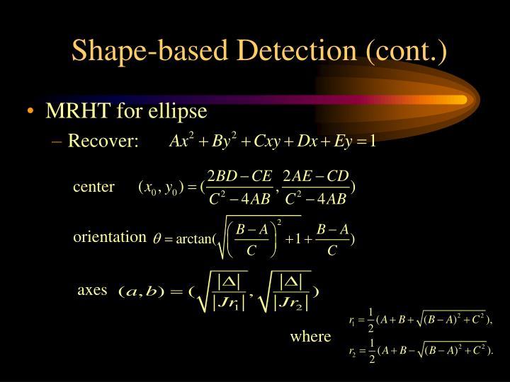 Shape-based Detection (cont.)