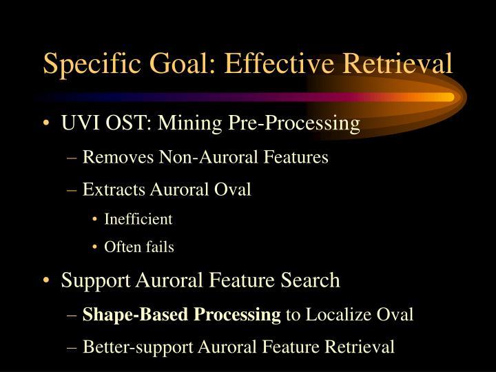 Specific Goal: Effective Retrieval