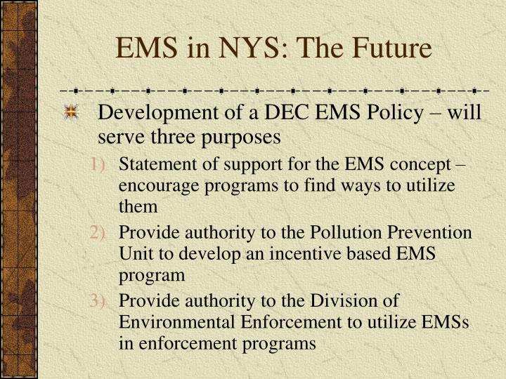 EMS in NYS: The Future