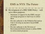 ems in nys the future