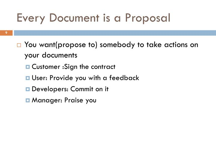 Every Document is a Proposal