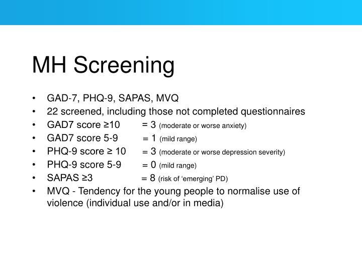 MH Screening