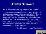 a better ordinance