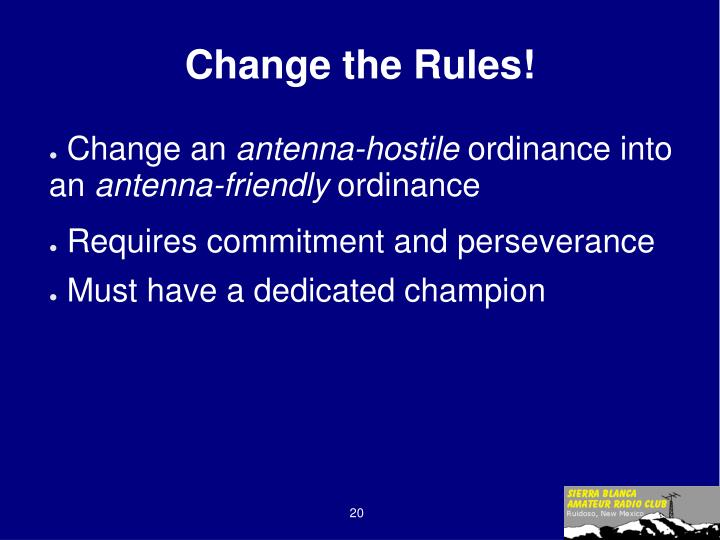 Change the Rules!