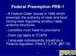 federal preemption prb 1