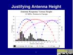 justifying antenna height