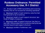 ruidoso ordinance permitted accessory use r 1 district