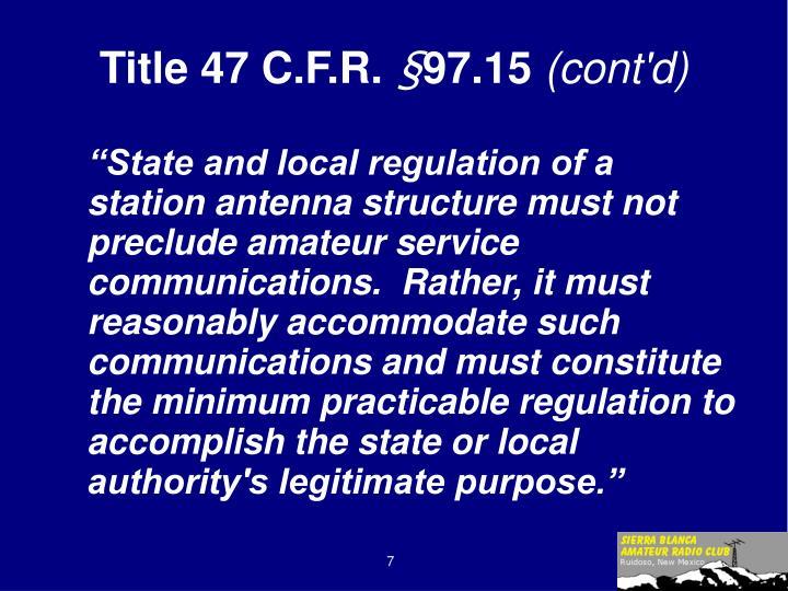 Title 47 C.F.R.