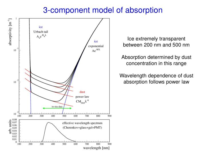 3-component model of absorption