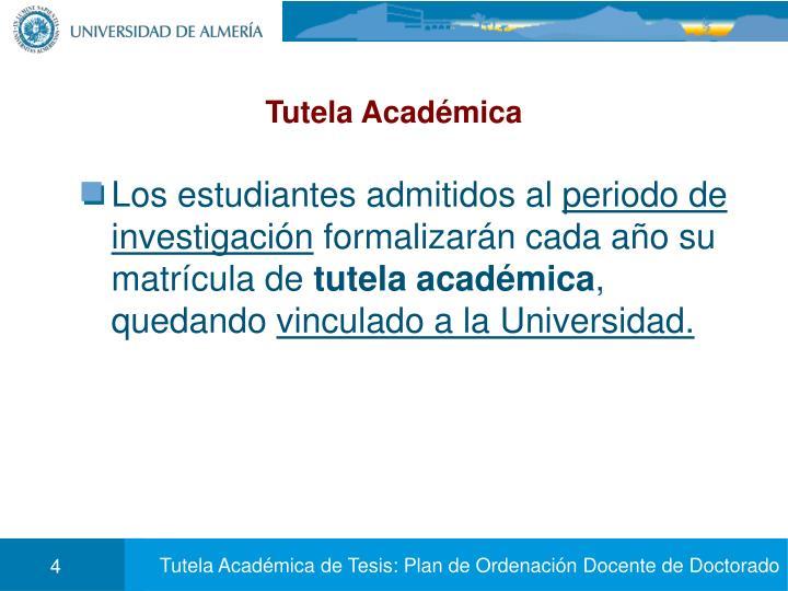 Tutela Académica