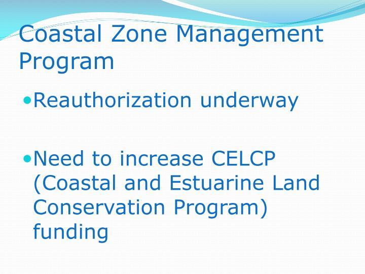 Coastal Zone Management Program