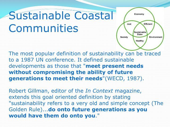Sustainable Coastal Communities