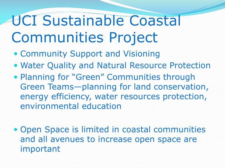 UCI Sustainable Coastal Communities Project