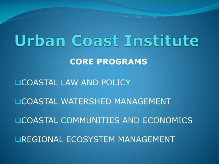 Urban Coast Institute