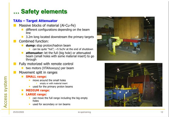 … Safety elements