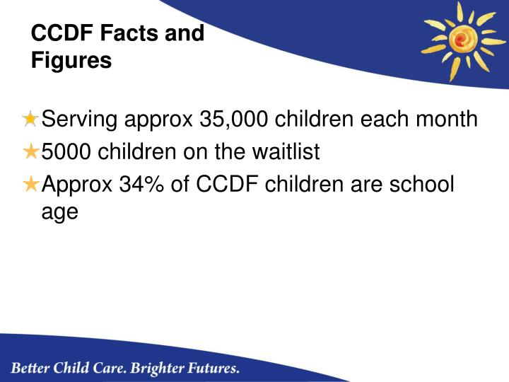 CCDF Facts and Figures