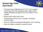 school age child care grant
