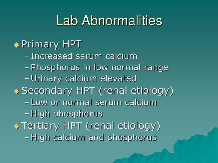 Lab Abnormalities