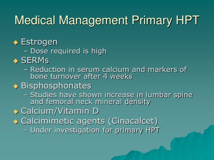 Medical Management Primary HPT