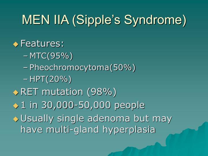 MEN IIA (Sipple's Syndrome)