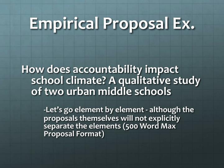 Empirical Proposal Ex.