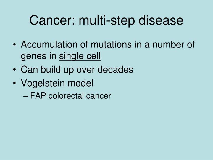 Cancer: multi-step disease