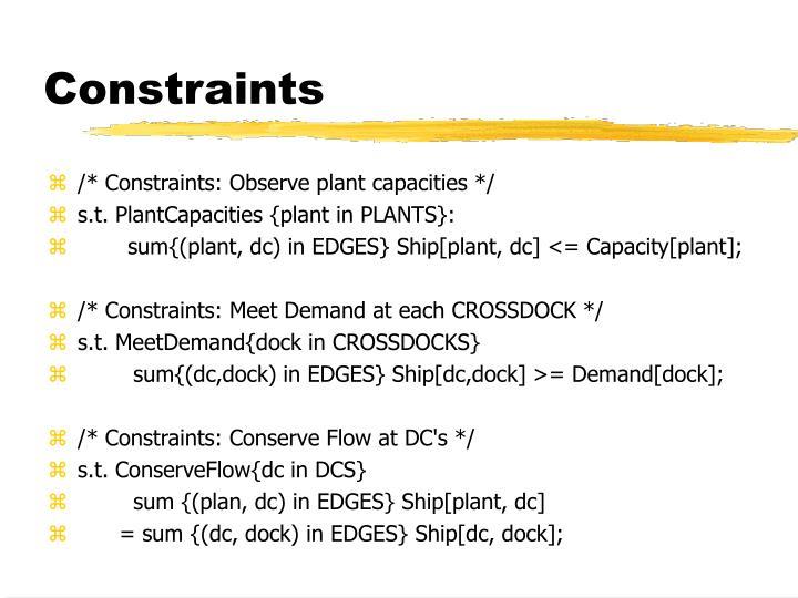 Constraints