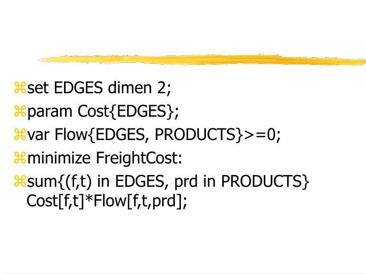 set EDGES dimen 2;