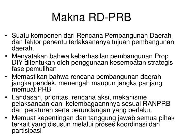Makna RD-PRB