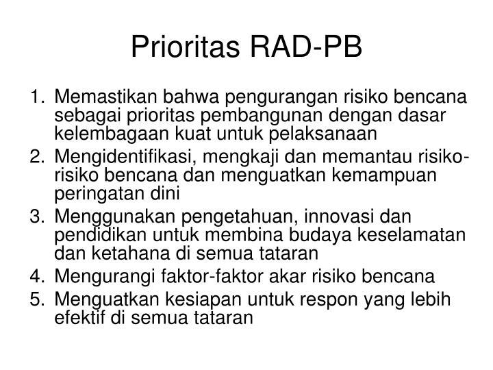 Prioritas RAD-PB