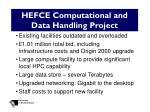 hefce computational and data handling project