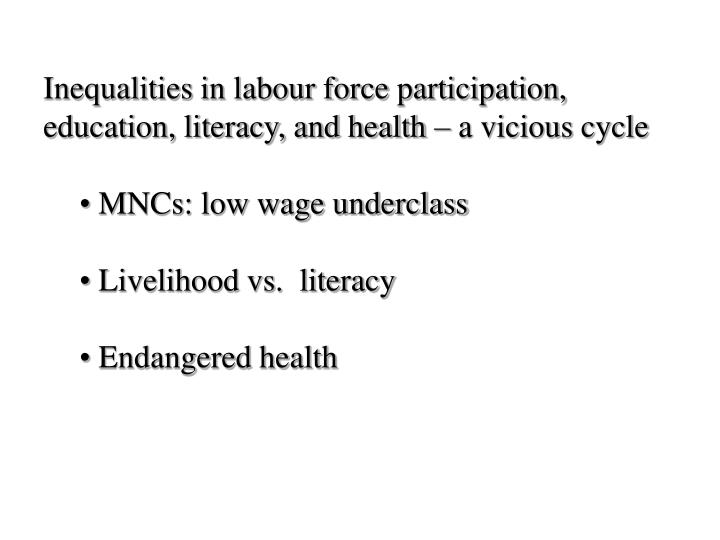 Inequalities in labour force participation,