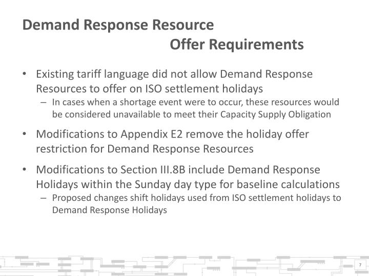 Demand Response Resource
