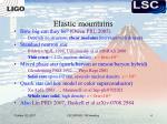 elastic mountains
