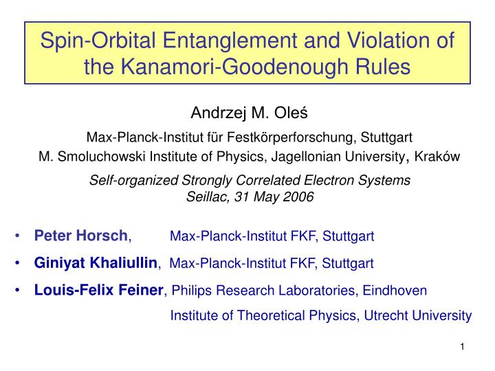 spin orbital entanglement and violation of the kanamori goodenough rules