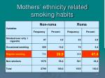 mothers ethnicity related smoking habits