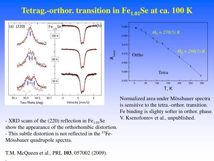 Tetrag.-orthor. transition in Fe