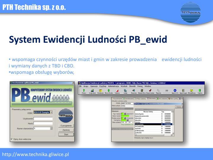 System Ewidencji Ludności PB_ewid