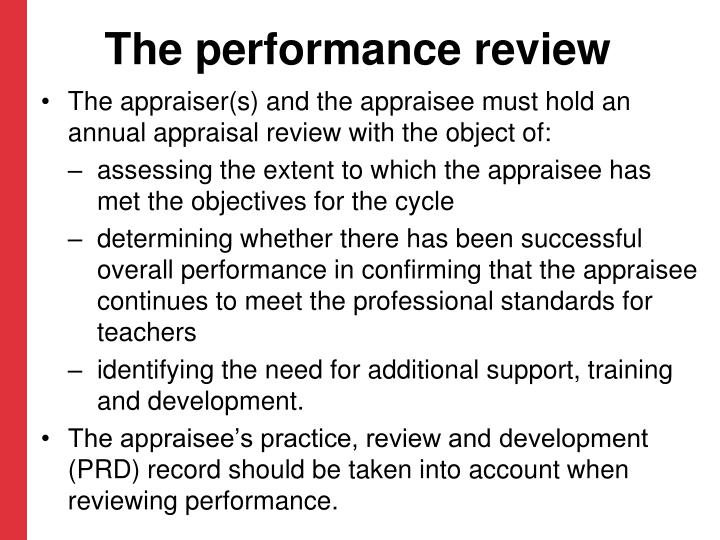 The performance review