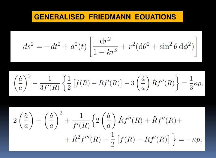 GENERALISED  FRIEDMANN  EQUATIONS